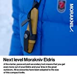 Morakniv Eldris Fixed-Blade Pocket-Sized Knife with Sandvik Stainless Steel Blade, Lanyard and Firestarter, Yellow, 2.2 Inch