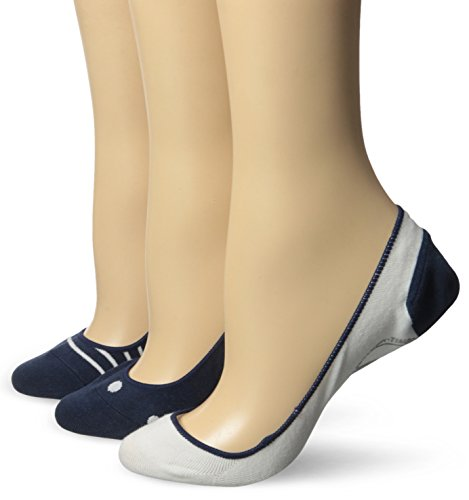Timberland Women's Boat Shoe Low Cut Invisible Liner Sock, Navy Blue, One Size (Pack of 3) (Socks Womens Timberland)