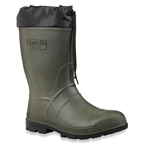 Kamik Men's Hunter Insulated Winter Boot, Khaki/Black Sole,...