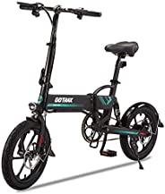 """GOTRAX EBE1 Foldable Electric Bike, 16"""" Wheels, 36V 7.5Ah Removable Lithium Battery up Max 25km on Electr"""