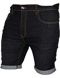 Mens Stretch Denim Chino Shorts Casual Flat Front Slim Fit Super Spandex Jeans Half Pant