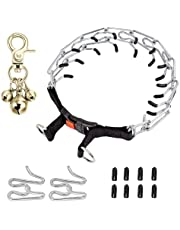 Dog Prong Collar,Dog Choke Pinch Training Collar with Quick Release Snap Buckle for Small Medium Large Dogs Packed with Two Extra Links