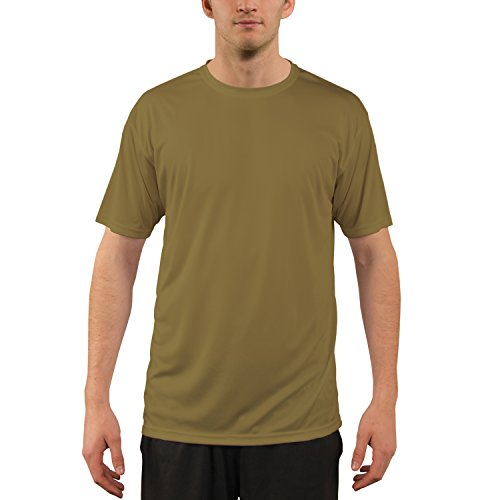 Vapor Apparel Men's UPF 50+ UV Sun Protection Performance Short Sleeve T-Shirt XX-Large Coyote - T-shirt Workout Sleeve Short