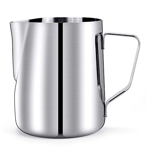 20 Oz. Milk Pitcher, HULISEN Stainless Steel Espresso Pitcher Latte Frothing Pitcher by HULISEN