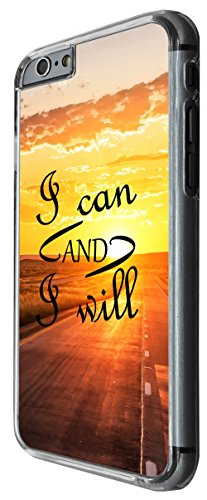 1093 - cool fun quote i can and i will inspiration positive motivational sunset success Design For iphone 6 Plus / iphone 6 Plus S 5.5'' Fashion Trend CASE Back COVER Plastic&Thin Metal -Clear