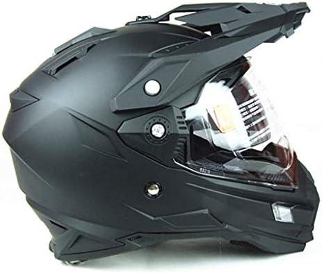 安全装置 ヘルメット - フルフェイスオートバイドロップバイザー付きダブルバイザーサンバイザーダブルレンズABS(黒) 個人用保護具 (サイズ さいず : L l)