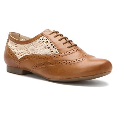 Women's Hush Puppies Pennant Oxford (5.5 M in Brown Leather)