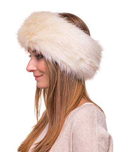 2cb02d69b11 Futrzane Winter Faux Fur Headband for Women and Girls (Ecru ...