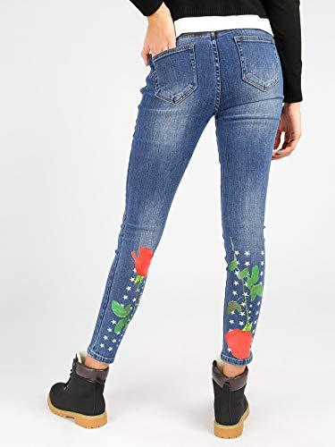 Sul Stelle Fiore E Retro Con Jeans gSIwqzxg