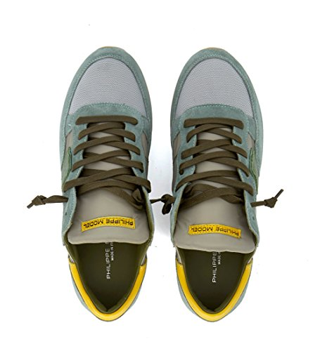 Tropez Model Fabric Suede Grey Sneaker Mens Green and Philippe Green vAZgqq