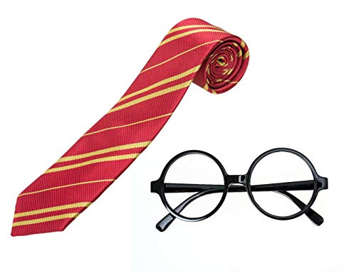 Ustar Cosplay Tie Halloween Costume with Novelty Glasses