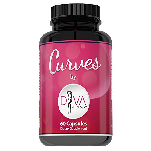 Curves Butt Enhancement Pills for Women by Diva Fit & Sexy - Fast and Effective Enlargement Product That Works - 60 Capsules -