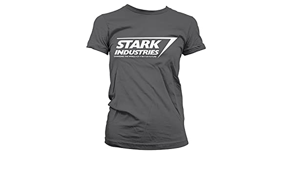 2ff4c04e Officially Licensed Stark Industries Logo Women T-Shirt at Amazon Women's  Clothing store: