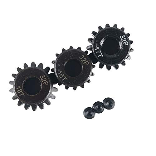 RCRunning 32DP 5mm 16T 17T 18T Motor Pinion Gear for 1/8 RC Car Brushed Brushless Motor