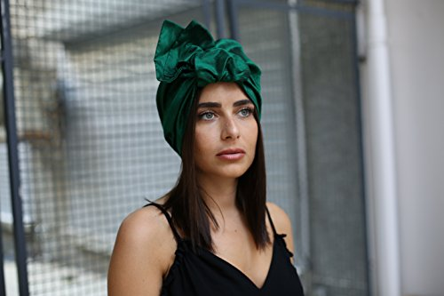 Fascinator, Silk Headbands, Millinery, Worldwide Shipment, Delivery in 2 Days, Head wrap, Bohemian Accessories, Headpieces, Head dress, Kentucky Derby Hat, Green, Gift Box, Boho Chic, Bohemian by Elipeacock