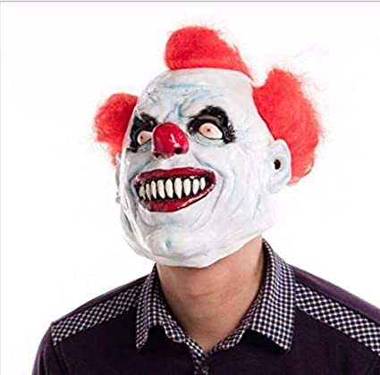 Masque De Clown Tueur De Supermaker Cosplay Masque De Tete De Latex