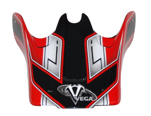 Vega Viper Junior Off-Road Helmet Visor with Dicey Graphic  (Red)