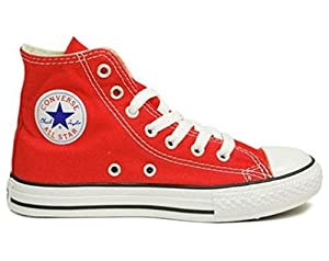 Converse Unisex's CONVERSE CHUCK TAYLOR ALL STAR HI BASKETBALL SHOES 11 (RED)