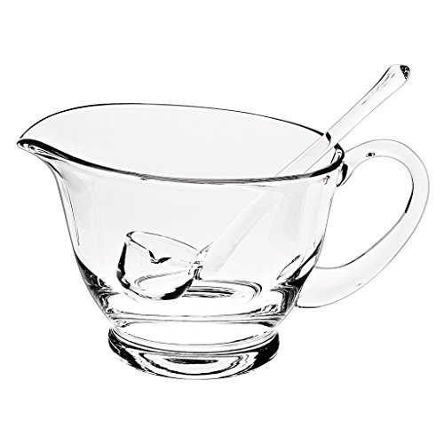 Badash Mouth Blown Gravy or Sauce Server with Ladle, 4 by - Glass Boat Gravy