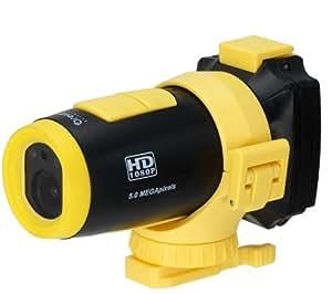 Oregon Scientific ATC9K - Cámara de acción, graba en 1080p Full HD, color amarillo y negro