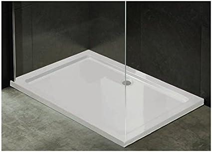 Plato de ducha ultraplano de acrílico blanco, rebajado, con solo 3,5 cm, forma cuadrada, rectangular y semicircular, muy bonito y moderno, parte inferior reforzada.Antideslizante y resistente, blanco: Amazon.es: Bricolaje y herramientas