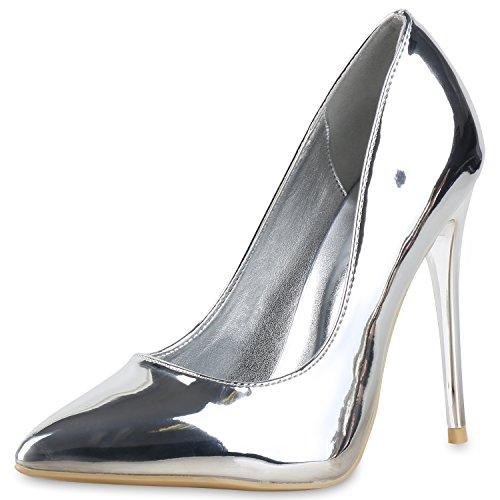 napoli-fashion - Cerrado Mujer plata metalica