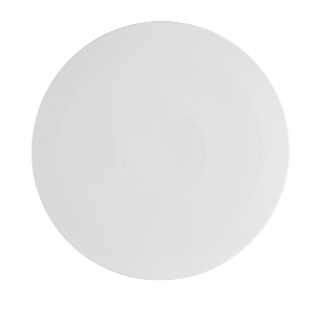 CAC China PP-3 Porcelain Round Flat Pizza Plate, 10-1/2-Inch, Super White, Box of 12