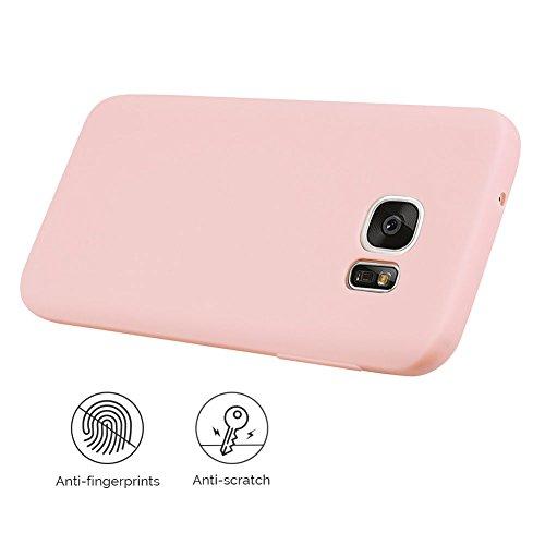 Funda Galaxy S7 , SpiritSun Soft TPU Silicona Handy Candy Carcasa Funda para Samsung Galaxy S7 (5.1 Pulgadas) Suave Silicona Piel Carcasa Ultra Delgado y Ligero Goma Flexible Phone Case Cover - Rojo Rosado