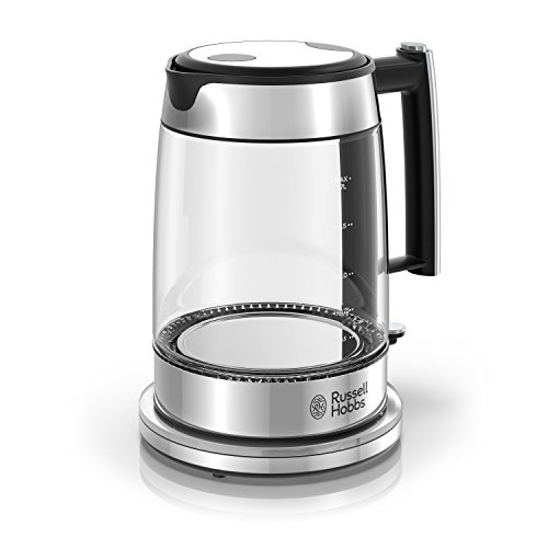 Russell Hobbs Glass 1.7L Electric Kettle, Silver & Stainless Steel, KE7900GYR