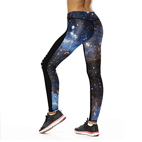 Yoga Stampati Sky4 Galaxy Fiori Da Donna Donne Elastici Sportivi Matita Stretch Classiche Leggings In Vita A Pantaloni BqtYwwa