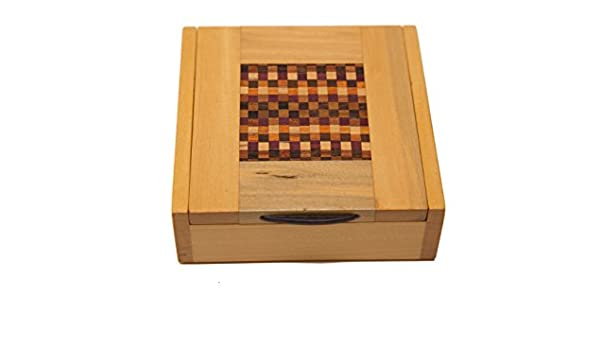 Caja de madera marquetería Original hecho a mano. Pieza única ...