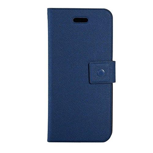 Fenice Pu Leder Flip Case Buchtasche in Blau