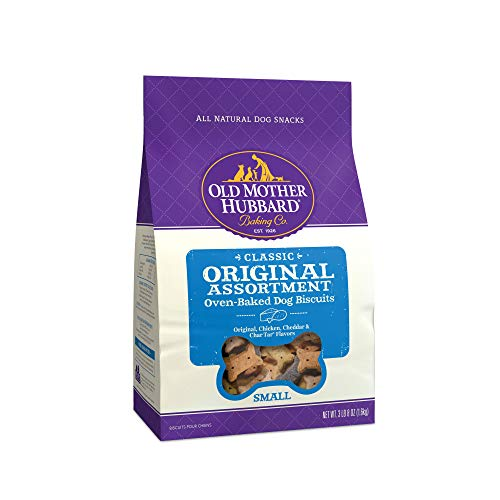 Old Mother Hubbard Classic Crunchy Natural Dog Treats, Original Assortment Small Biscuits, 3.5-Pound Bag (Jack Russell Terrier German Shepherd Mix Puppy)