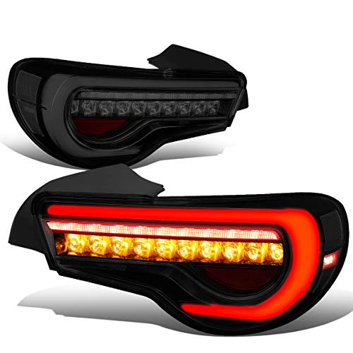DNA Motoring TL-LED-3D-FRS-SM 3D LED Light Bar+Sequential Turn Signal Tail Lamps (Smoked)