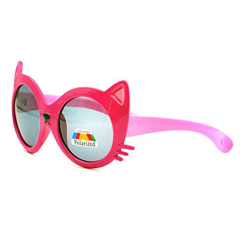 Xinmade Rubber Flexible Kids Polarized Sunglasses for Boys and Girls Age 3-10 (Magenta - The In Sunglasses Color Sun Change