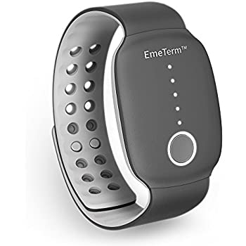 EmeTerm Motion Sickness Wristband with FDA Cleared Morning Sickness Relief Band Without Side Effects Rechargeable Travel Wrist Bands Relief from Nausea, ...