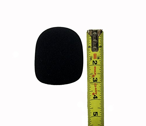 Tetra-Teknica DFFZ5P-BLK Ball Type Handheld Microphone Windscreen, Color Black, 5-Pack