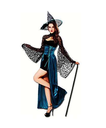 [VLUNT Dress up Elegant Witch Costumes for Halloween Christmas Party] (Angel And Demon Costumes)