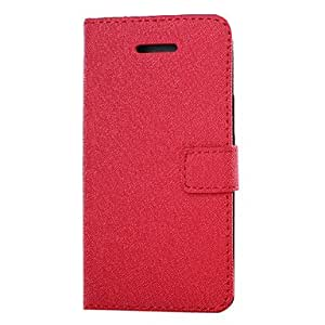 Buy Cross Pattern Leather Full Body Case with Card Slot and Wallet for iPhone 5C (Assorted Colors) , White
