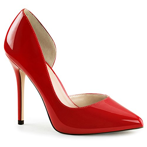 Womens Red High Heels Patent Shoes Pointed Toe Pumps Classy (Classy High Heel Pump)