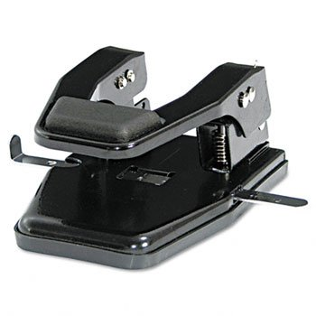 Martin Yale MP250 Master 2-Hole Paper Punch (Pack of 4), Black, 9/32'' Hole Diameter, Punches up to 40 sheets, Adjustable paper guide, Lock-down handle by Martin Yale