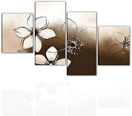Fiori Quadri Moderni.Quadri Moderni Dipinti A Mano Olio Su Tela Con Fiori Per Saloni