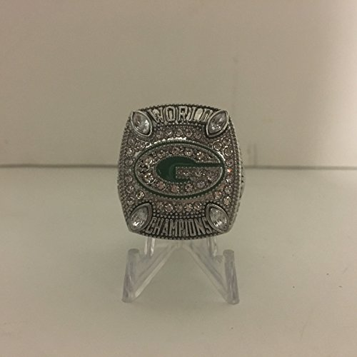 2010 Aaron Rodgers #12 Green Bay Packers High Quality Replica Super Bowl XLV Ring Size 10.5-Silver Colored ()