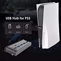 AYTECH 5 Port usb 3.0 hub Adapter for ps5 High Speed Accessories