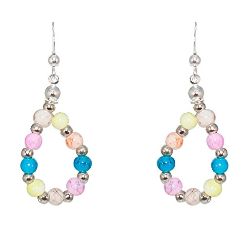 Créative Perles - Boucles D'Oreilles Enfant Arc-En-Ciel - Rose