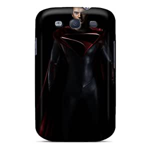 High-end Case Cover Protector For Galaxy S3(man Of Steel Looking Serious)
