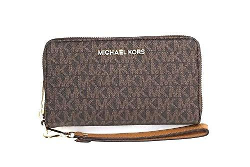 Michael Kors Women's Jet Set Travel Multifunction Phone Case No Size (Brown Acorn) (Best Deals On Michael Kors Purses)