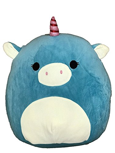 Kellytoy Squishmallow 13 Inch Ace the Turquoise Unicorn Super Soft Plush Toy Pillow Pet