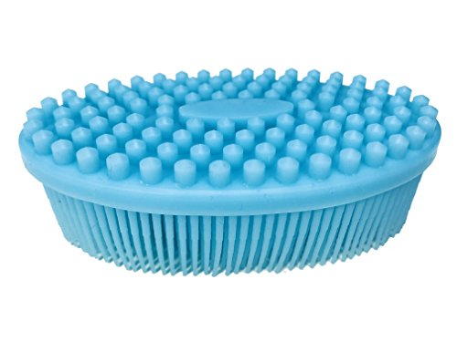 Bath & Shower Brush - Gentle Facial Exfoliation and Body Massage - Super Soft and Luxurious - Antibacterial ()