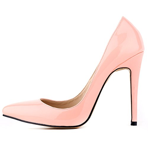 c186a3310f7 Loslandifen Womens Shoes Closed Toe High Heels Women s Pointed Slender  Leather Pumps (37 M